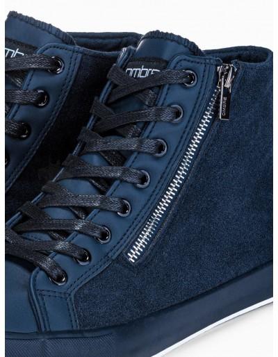 Men's ankle shoes T354 - navy