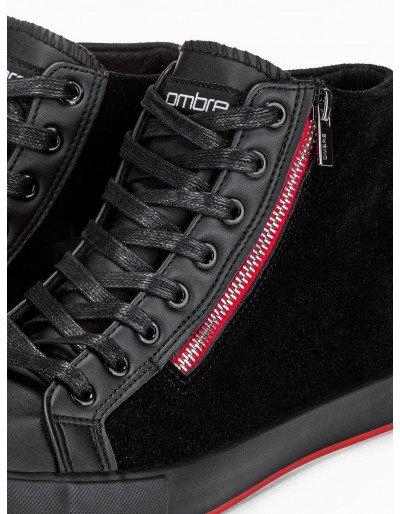 Men's ankle shoes T354 - black