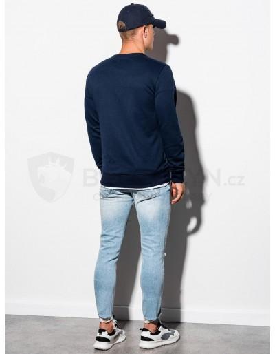Men's plain sweatshirt B978 - navy