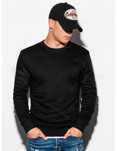 Men's plain sweatshirt B978 - black