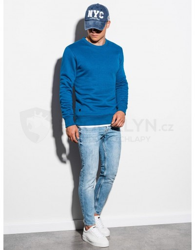 Men's plain sweatshirt B978 - blue