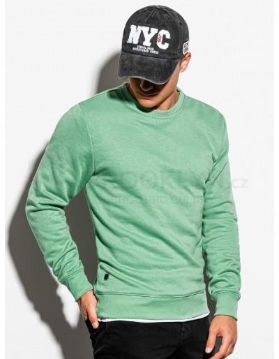 Men's plain sweatshirt B978 - light green