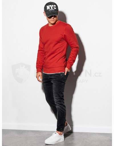 Men's plain sweatshirt B978 - red