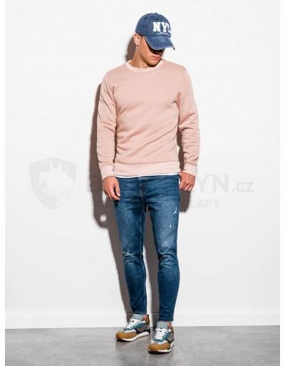Men's plain sweatshirt B978 - peach