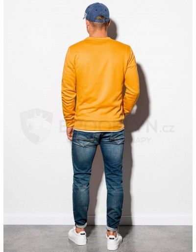 Men's plain sweatshirt B978 - mustard