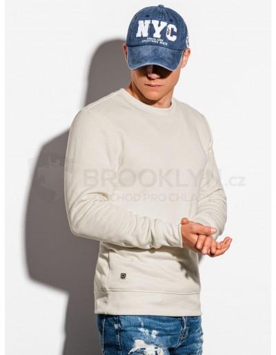 Men's plain sweatshirt B978 - ecru
