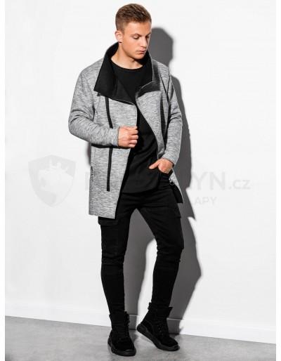 Pánský podzimní kabát C442 - šedý