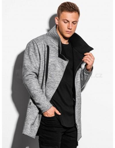 Men's autumn coat C442 - grey