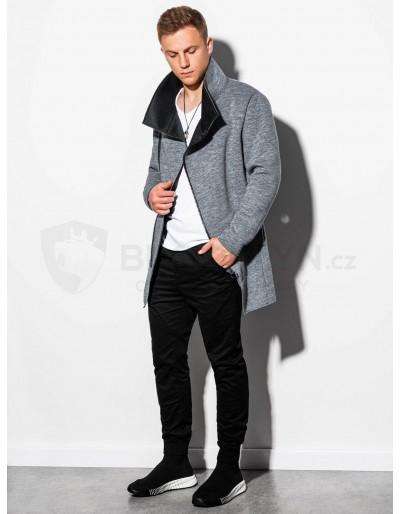 Pánský podzimní kabát C442 - tmavě šedý