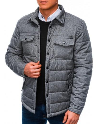 Men's mid-season quilted jacket C452 - grey