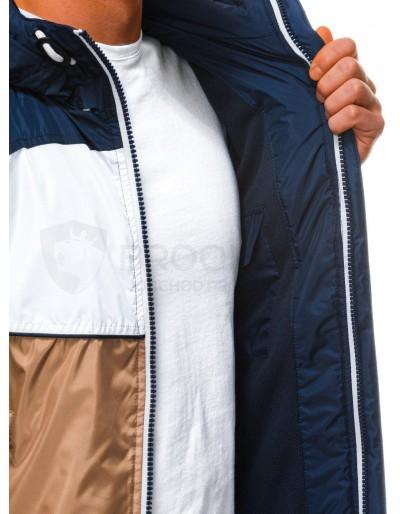 Men's mid-season quilted jacket C447 - brown
