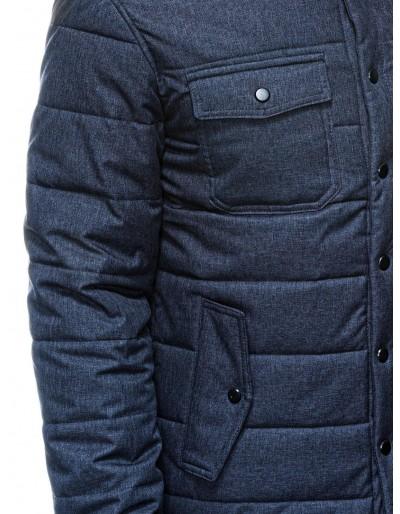 Men's mid-season quilted jacket C452 - navy