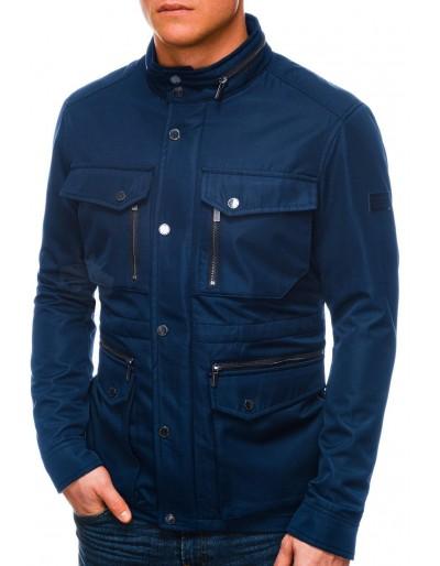 Men's mid-season quilted jacket C444 - navy