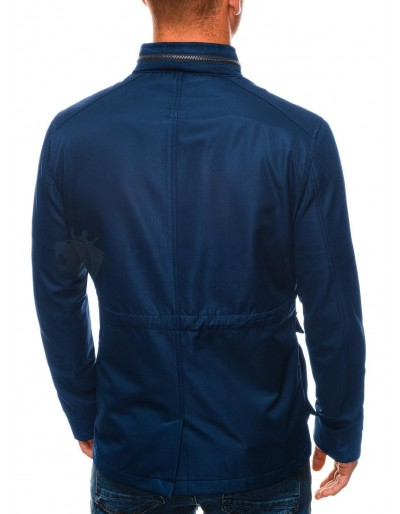 Men's mid-season quilted jacket C444 - navy
