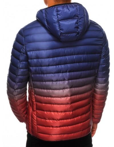 Men's Autumn quilted jacket C319 - violet