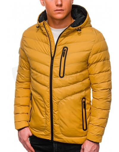 Men's mid-season quilted jacket C356 - yellow