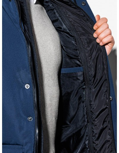 Men's mid-season quilted jacket C449 - navy