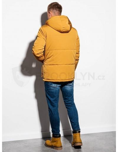 Men's mid-season quilted jacket C449 - mustard
