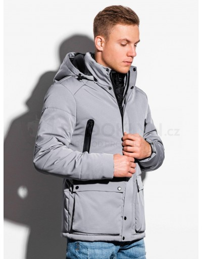 Men's mid-season quilted jacket C449 - grey
