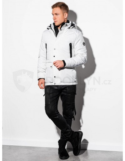 Men's mid-season quilted jacket C449 - white