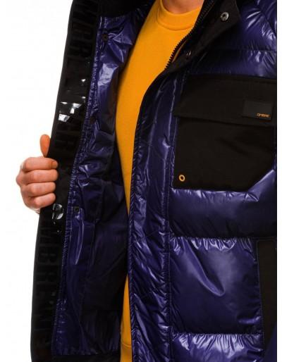 Men's mid-season quilted jacket C457 - violet