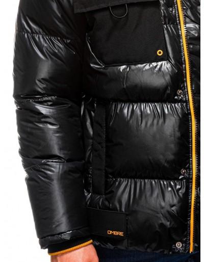 Men's mid-season quilted jacket C457 - black