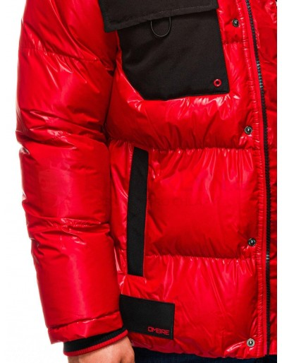 Men's mid-season quilted jacket C457 - red