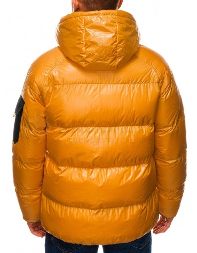 Men's mid-season jacket C457 - yellow