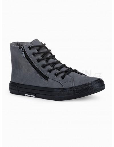 Pánská kotníková obuv T352 - tmavě šedá