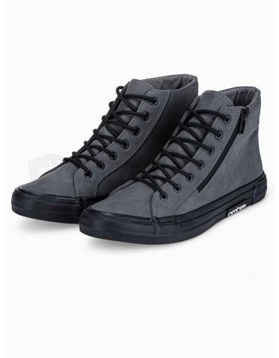Men's ankle shoes T352 - dark grey