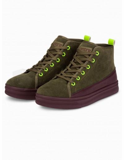 Men's casual sneakers T362 - khaki