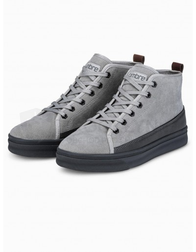 Men's casual sneakers T362 - grey