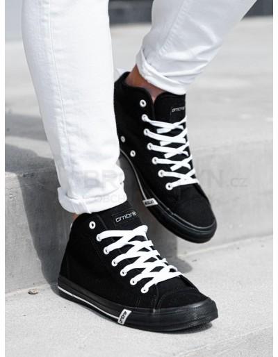 Pánské vysoké tenisky T281 - černé