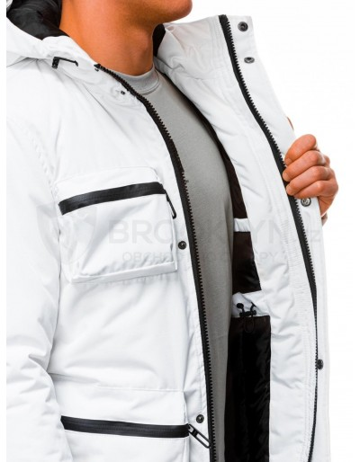 Men's winter quilted jacket C450 - white