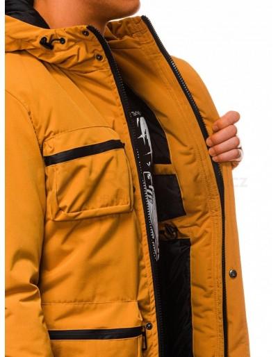 Men's winter quilted jacket C450 - mustard
