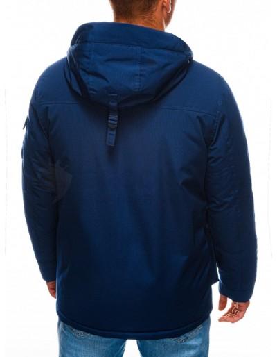 Men's winter quilted jacket C450 - navy