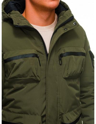 Men's winter quilted jacket C450 - khaki