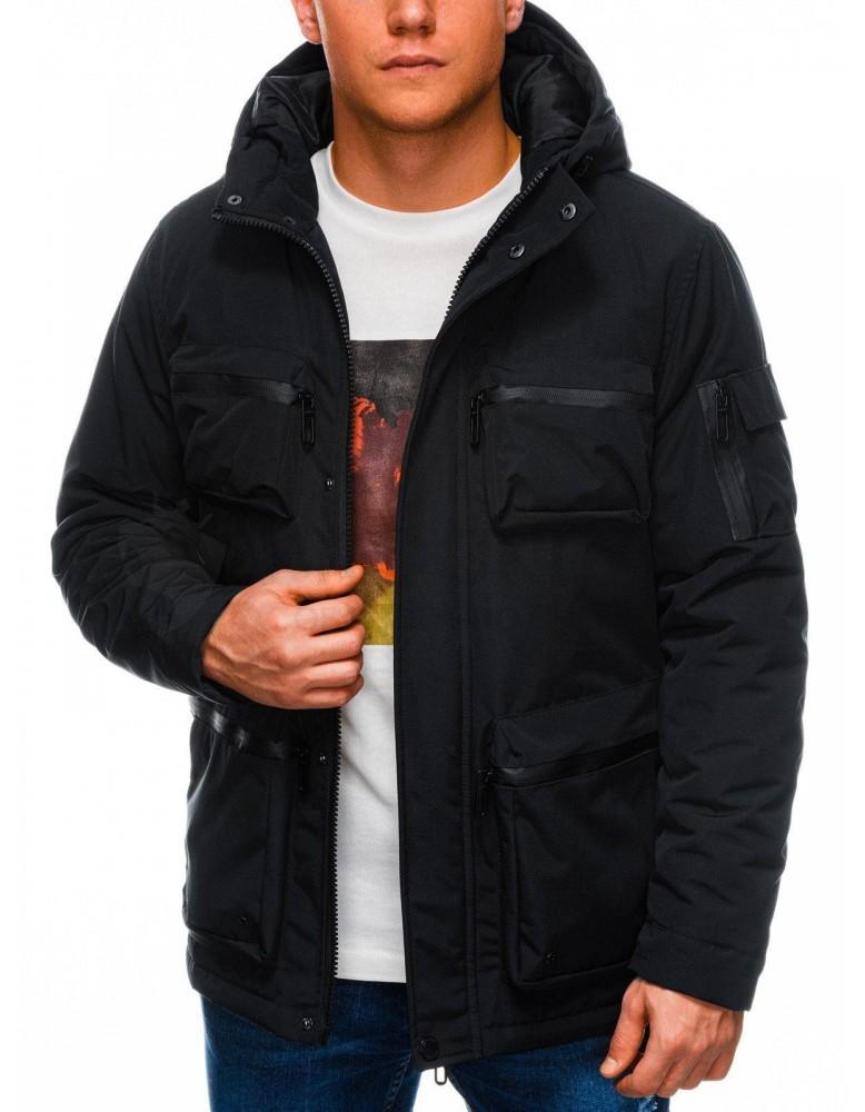 Pánská zimní prošívaná bunda C450 - černá