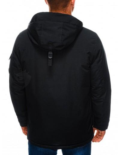 Men's winter quilted jacket C450 - black