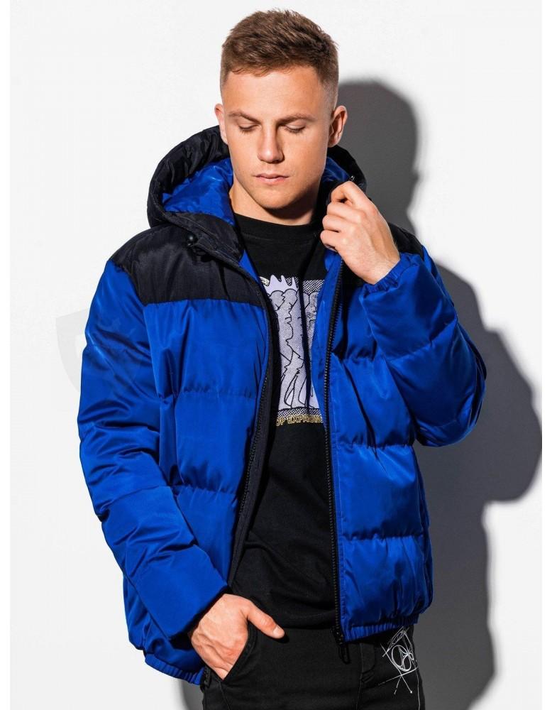 Pánská zimní bunda C458 - modrá