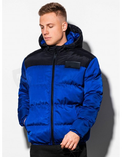 Men's winter jacket C458 - blue