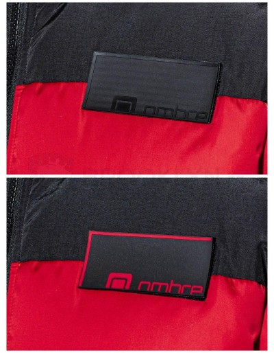 Men's winter jacket C458 - red
