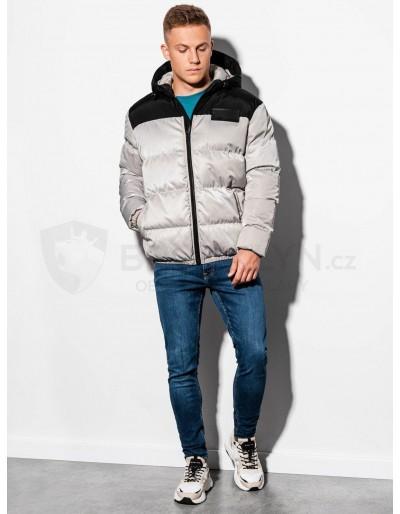 Men's winter quilted jacket C458 - grey