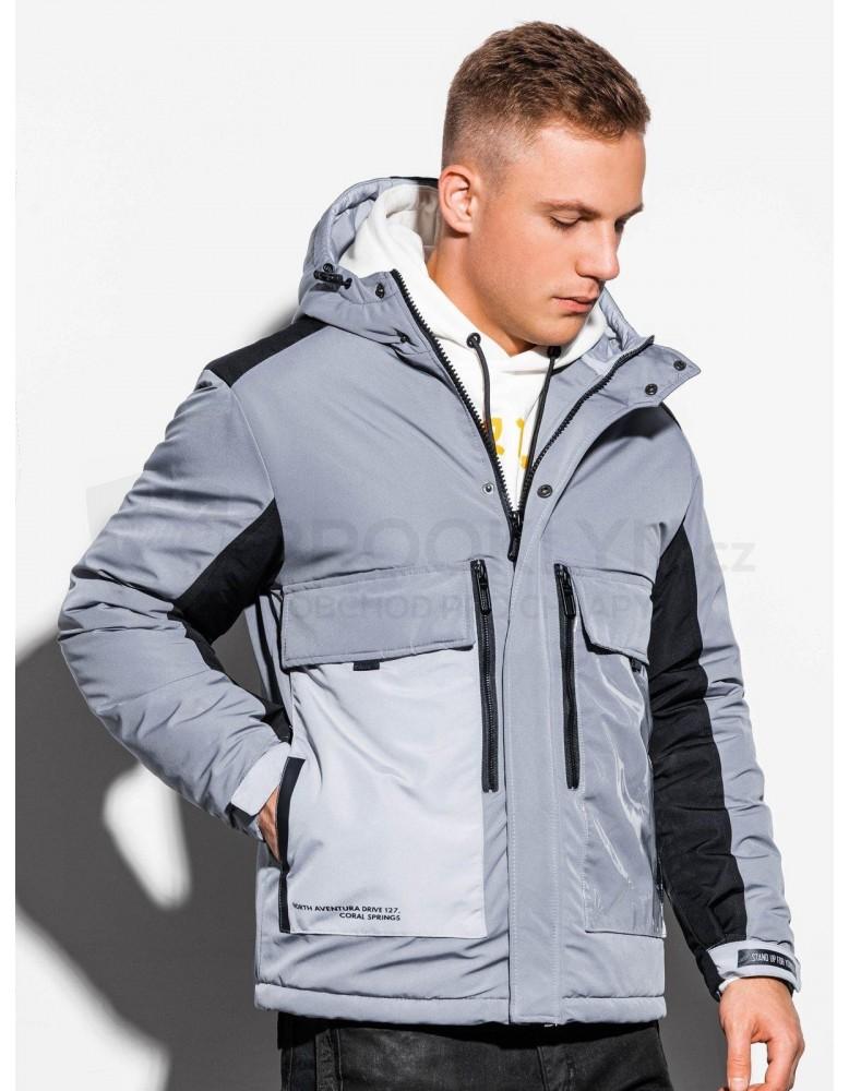 Pánská zimní bunda C460 - šedá
