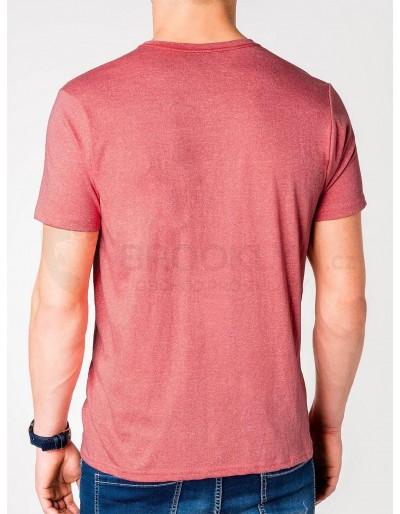 Men's plain t-shirt S885 - coral