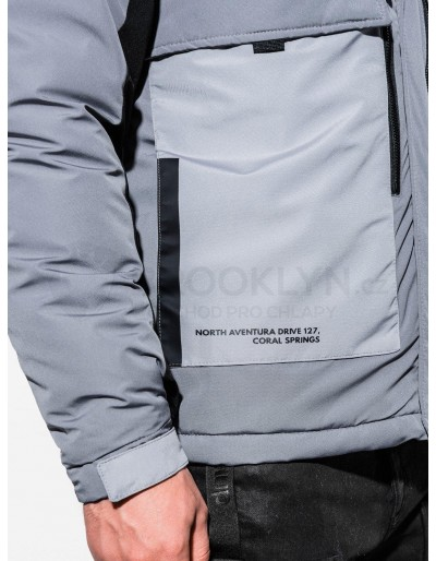 Men's winter jacket C460 - grey
