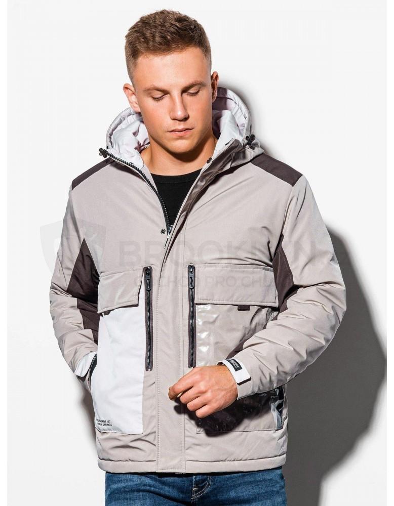 Pánská zimní bunda C460 - béžová