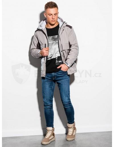 Men's winter jacket C460 - beige