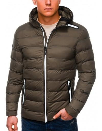 Pánská zimní prošívaná bunda C451 - khaki