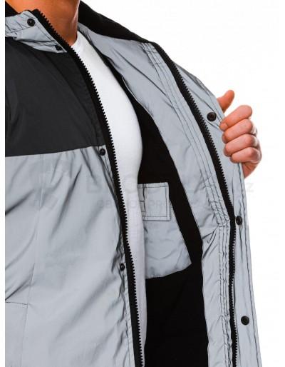 Men's winter reflective jacket C462 - grey